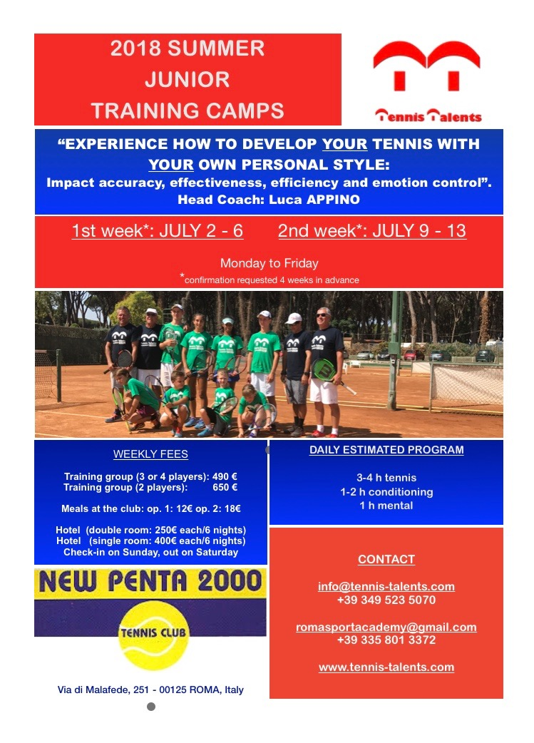 2018 Summer Junior Training Camps