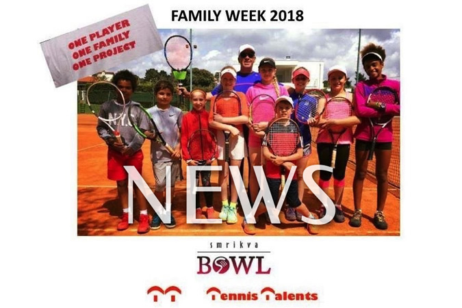 Smrikva Bowl Tennis Talents family week